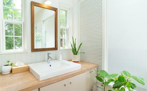 新築 洗面所の画像