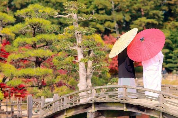 東京で和装のフォトウエディング・前撮りにおすすめの庭園、神社