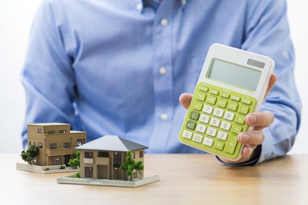 電卓 建物 模型