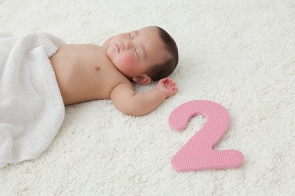 赤ちゃんの月齢フォト 数字