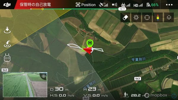 djiアプリでのマップ