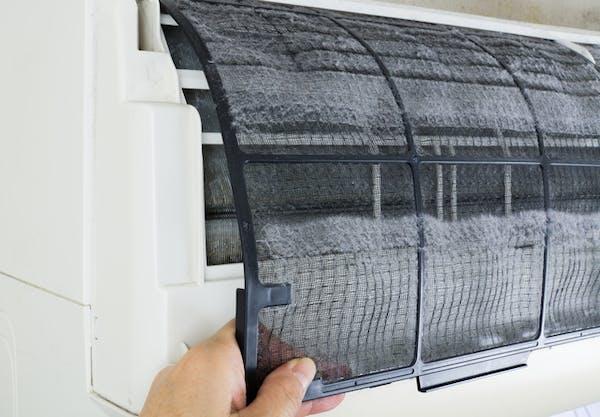 エアコンのフィルター画像
