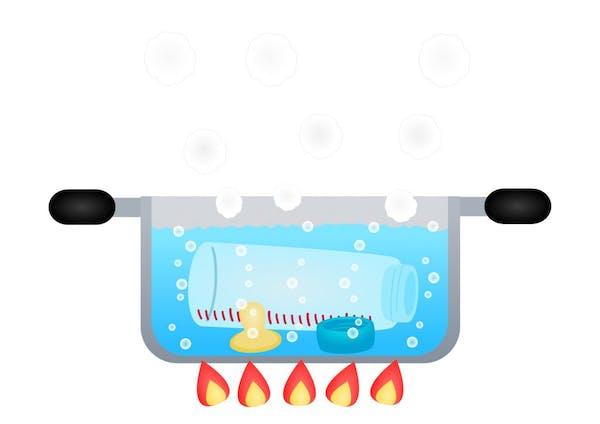 煮沸消毒の画像