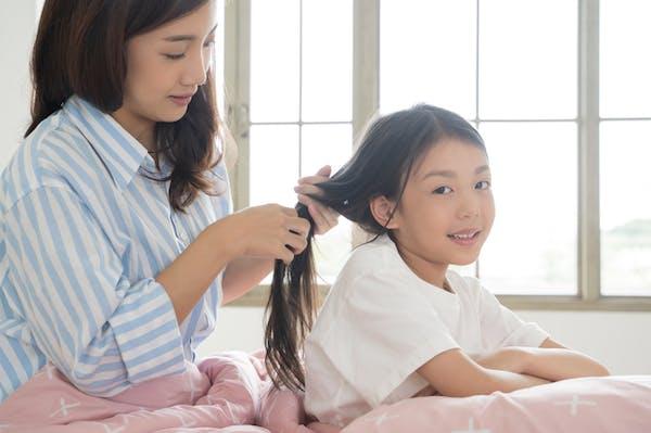 ママがアレンジしてくれた髪型はお子さんにとっても思い出に残るかも