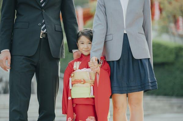 七五三の母親のスーツ