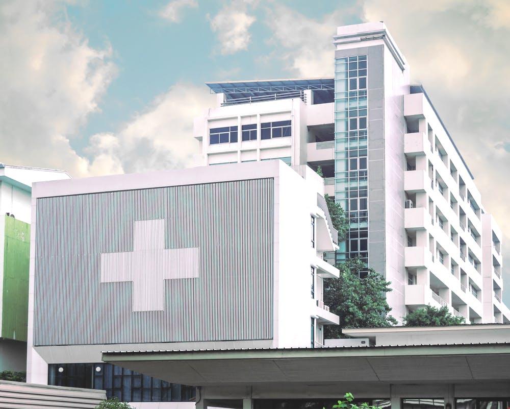 総合病院の写真撮影