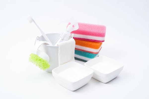 バケツや雑巾などの掃除道具