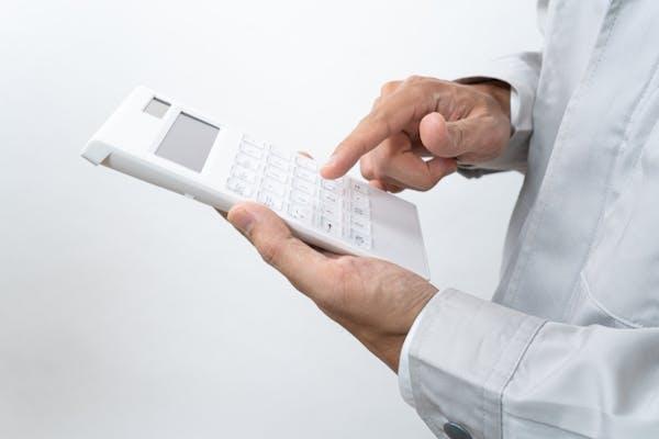 電卓で計算する業者
