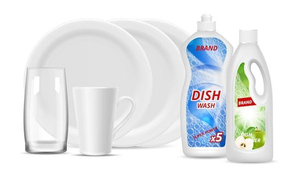 食器用洗剤と食器