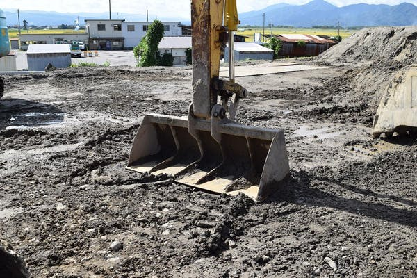 整地の工事現場