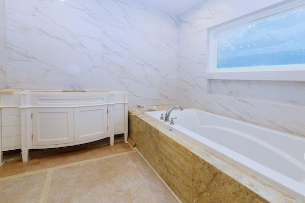 モルタルのモダンな風呂