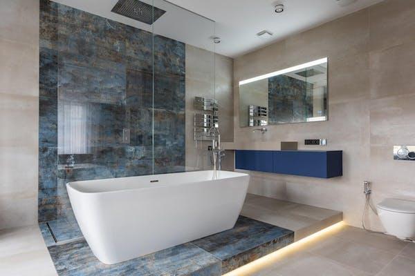 大理石の浴室