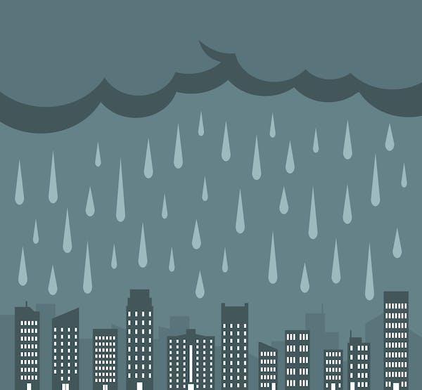 雨でジメジメ 梅雨のイメージ