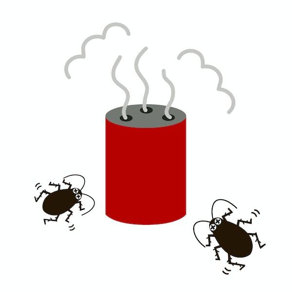 燻煙剤の使用イメージ