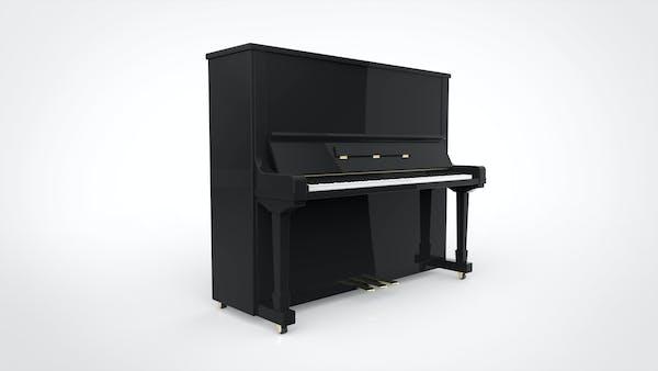 アップライトピアノ パース 白背景