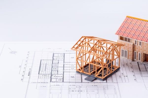 設計図と模型